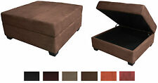 Large 35-Inch Square Storage Bench and Ottoman Suede or Leather Choose Color!!!