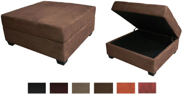 Fabulous Large 35 Inch Square Storage Bench And Ottoman Suede Or Leather Choose Color Gmtry Best Dining Table And Chair Ideas Images Gmtryco