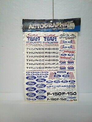 Vintage Autographics Decal Sticker Sheet RC Pan Car Bolink ford thunderbird usa