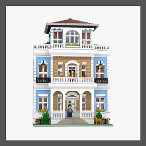 LEGO-Custom-Modular-Mansion-INSTRUCTIONS-ONLY