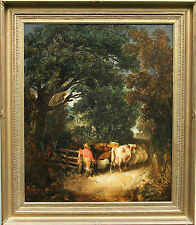 JAMES BATEMAN 1815-1849 BRITISH ROYAL SOCIETY  EXHIBITED LANDSCAPE OIL PAINTING