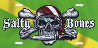 Skull Crossbones Scuba Nitrox Flag License Plate Men Divers