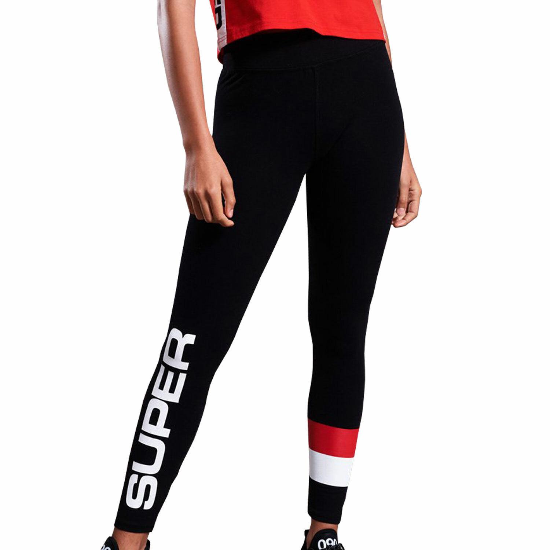 Superdry Streetwear Sport Sport Sport Damen Leggings eccecb