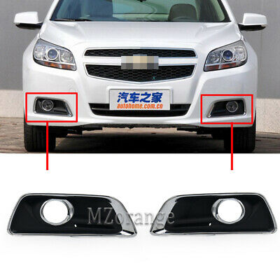 Pair Replacement Fog Lamp Light Cover Bezel For Chevy Malibu 2012 13 2014 15 L+R