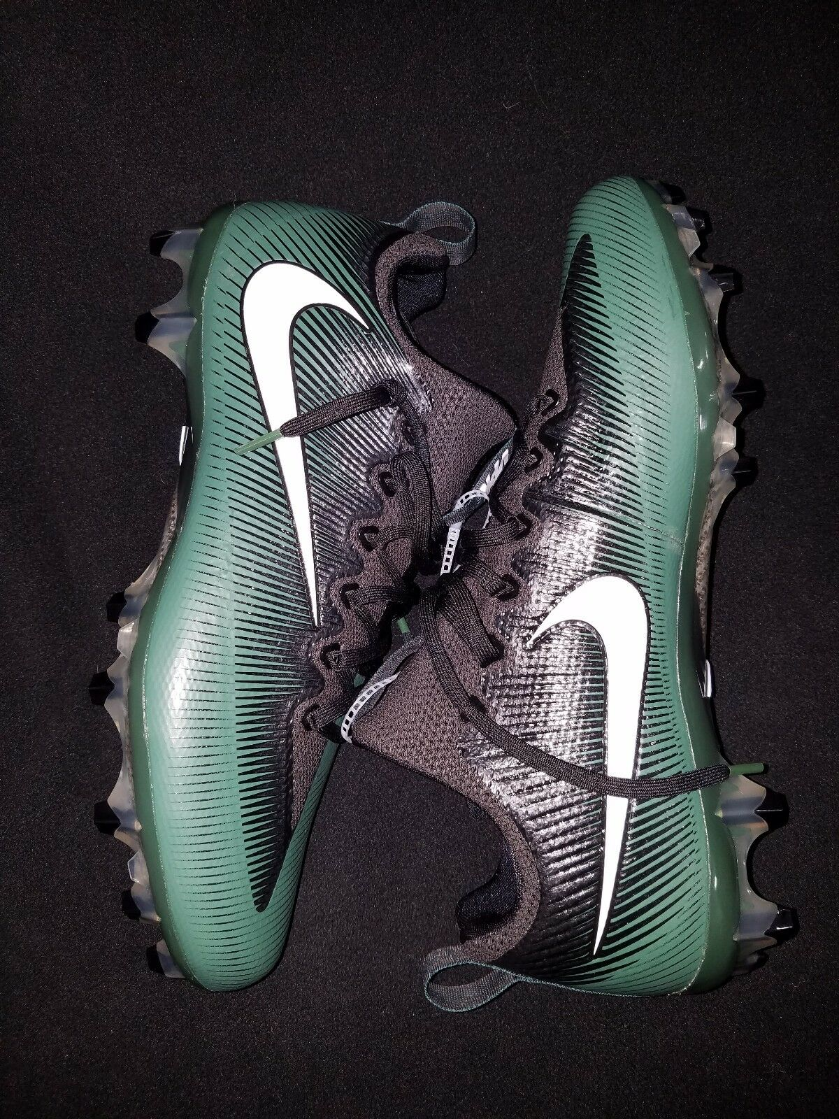 Nouveau Nike Vapor Untouchable Pro VPR Football Crampons Noir Vert Taille 12  NEUF sans boîte