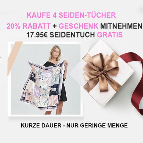 Grün Seidentuch Designer Tuch 90x90cm Schal Glanz Schlauchschal Frau Damen N48
