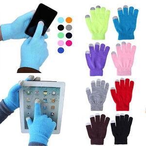 Paar-weiche-Handschuhen-Winter-Maenner-Frauen-Touch-Screen-kapazitiven-Smartphone