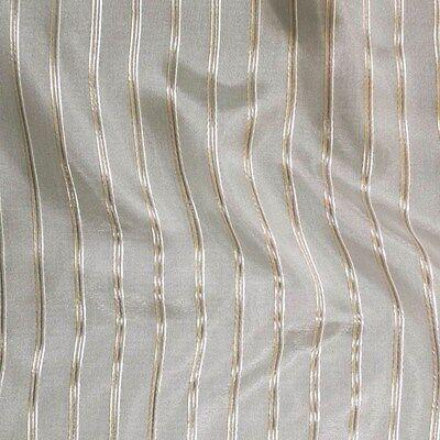 "P Kaufmann Crossing Elegant Silver Stripe Sheer fabric 120/"" By the yard"