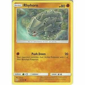 Rhyhorn-92-214-Common-Card-Pokemon-TCG-Sun-amp-Moon-Unbroken-Bonds-Cards