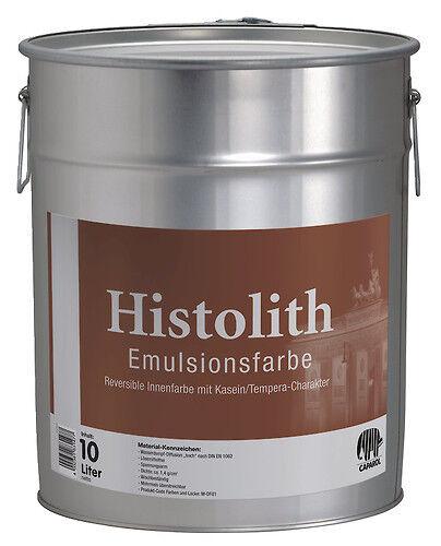 Caparol Histolith Emulsionsfarbe 10 L -Kasein/Tempera-Charakter, reversibel-