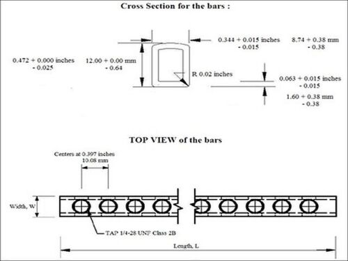 Copper Neutral Ground Bus Bar with Screws Included 12mm x 8.75mm 6 Inch Long