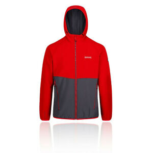 Regatta-Mens-Arec-II-Softshell-Jacket-Top-Blue-Red-Sports-Outdoors-Hooded