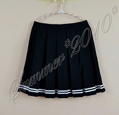 Japanese College Girls School Uniform Short JK Sailor Solid Pleated Mini Skirt