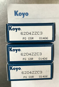 Koyo-6204ZZC3-Metric-Deep-Groove-Ball-Bearing-Boxed