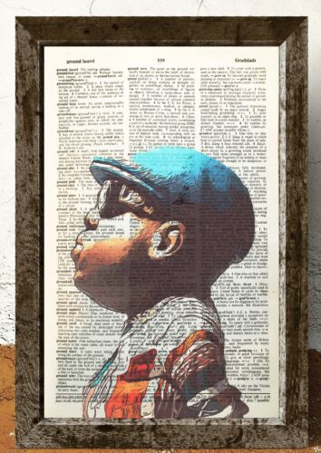 Notorious B.I.G rapper Biggie Smalls  artdictionary page art print vintage  O83