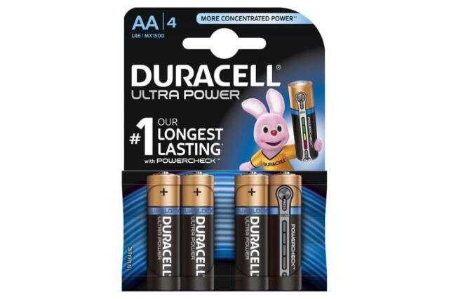 Duracell 656.970UK Ultra Power Alkaline Battery Pack of 4 w/ Duralock Technology