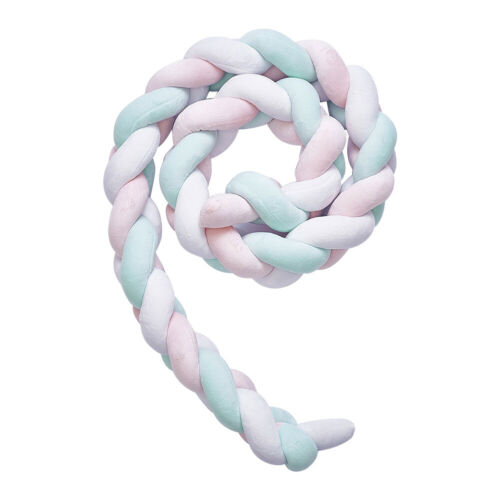 2M Long INS Knot Ball Pillow Cotton Baby Bed Bumper Crib Protector Room Decor UK