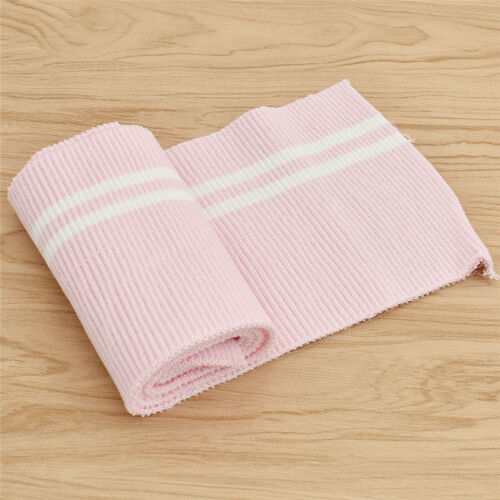 Striped Cotton Knitted Fabric Elastic Collar Cuffs Hem Bottom Mouth Fabric