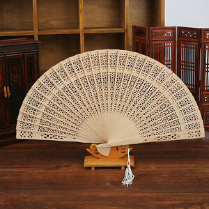Sale-Wooden-Folding-Hollow-Carved-Hand-Fan-Flower-Wedding-Bridal-Party-Gift-US