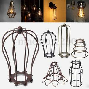 Vintage pendant trouble light bulb guard wire cage ceiling hanging image is loading vintage pendant trouble light bulb guard wire cage greentooth Gallery