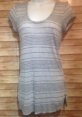 CAbi womens gray striped shirt size s