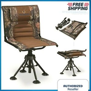 Rotating-Hunting-Blind-Chair-360-Swivel-Camo-Foldable-Portable-300-Lb-Capacity
