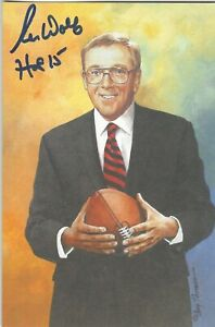 Ron Wolf Green Bay Packers  Autographed Goal Line Art Card Football HOF
