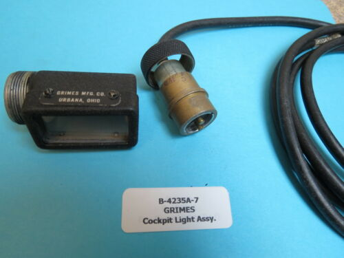 Grimes B-4235A-7 Aircraft Cockpit Instrument Panel Light With 6 ft Wire Harness