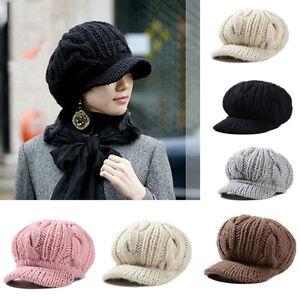 80b11e7a1cc7d Women Warm Knitted Beanie Hat Beret Crochet Slouch Baggy Ski Cap ...