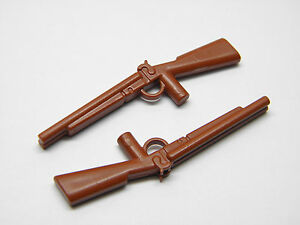 Playmobil-Western-Soldat-Nordiste-Sudiste-Cowboy-Fusils-Carabines-Marrons-AC1236