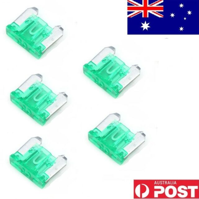 5pcs 30A 30Amp Mini Micro Blade Fuses Holder AMP For Auto Car Truck Boat Green