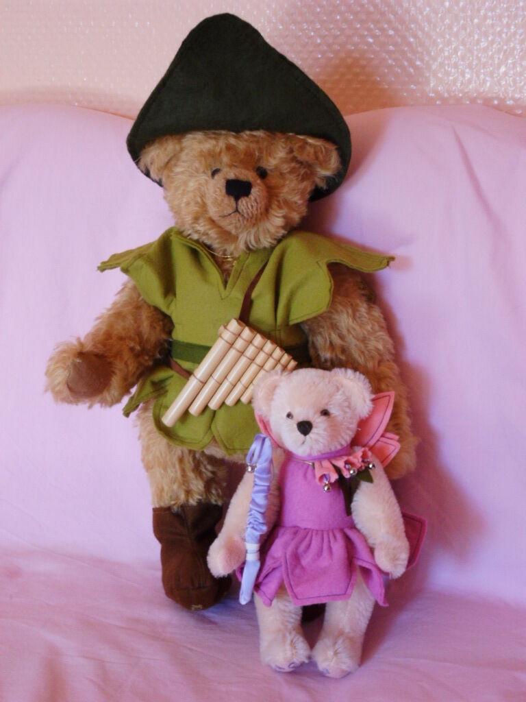Artisti teddys orsi bears Peter Pan campanello TINKERBELL Hermann Coburg