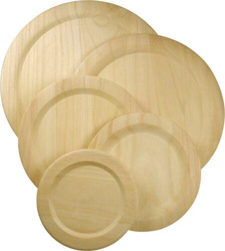Holzteller Teller aus Pappel für zB.Bauernmalerei Ø 14,5-30 cm