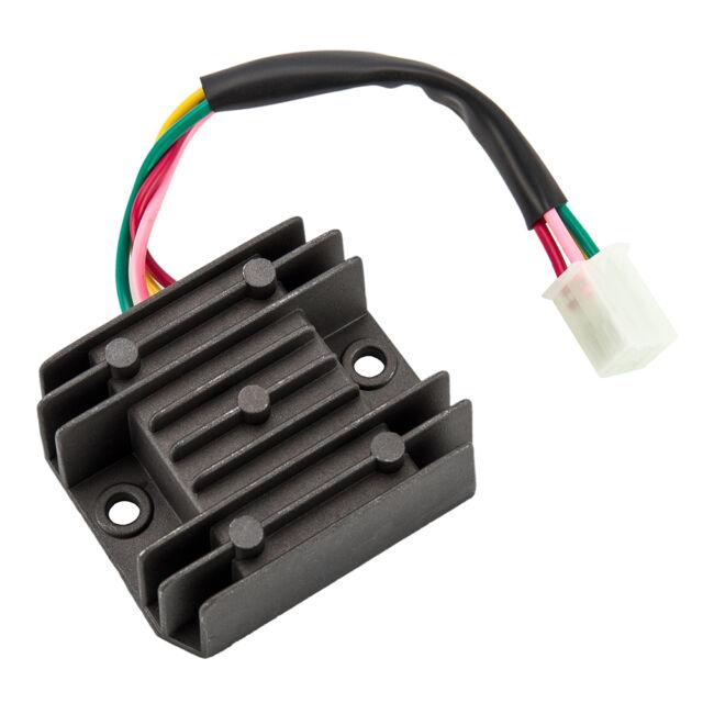 universal 4 wire full wave black motorcycle regulator rectifier 12v dc bike  quad