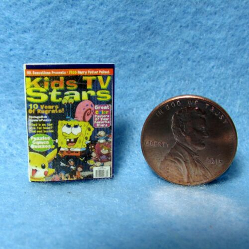 Dollhouse Miniature Replica of Sponge Bob Magazine ~ Printed Cover /& Back Only
