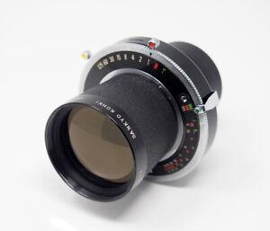 Komura-300mm-F5-0-Telephoto-Lens-Copal-3-4x5-5x7-Cameras-RARE
