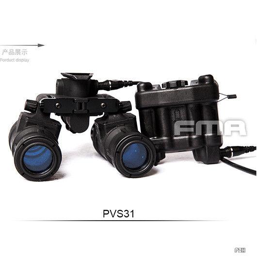 FMA Táctica Airsoft AN PVS31 casco gafas de visión nocturna NVG Maniquí Modelo