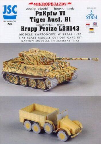 JSC 728 Krupp Protze L2H143 PzKpfw VI  Tiger  H1
