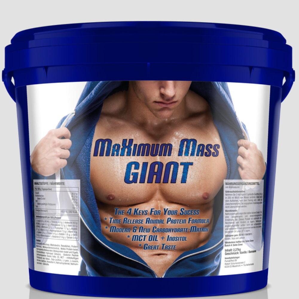 9kg  MaXimum Mass Giant- Giant- Mass Eiweißshake + Postworkout Whey Protein Isolat WPC Egg bad19b
