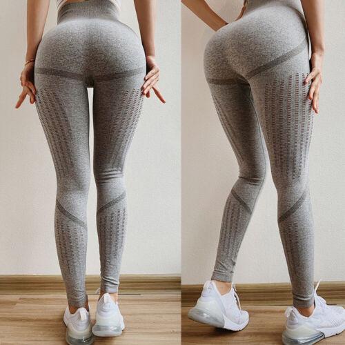 Women High Waist Seamless Sport Yoga Pants Fitness Butt Lift Leggings Stretch UK