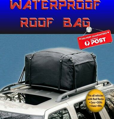 CAR 4WD ROOF RACK LUGGAGE BAG WEATHERPROOF STORAGE CARGO HEAVY DUTY POLYESTER