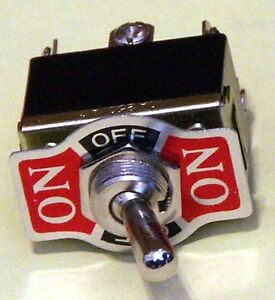 Toggle switch Pack of 3 DPDT On-Off-On 20 Amp K203-3