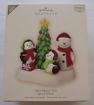 Hallmark 2007 Very Merry Trio Christmas Jingle Pals Snowman Limited Ornament