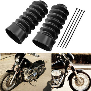 49mm Rubber Front Fork Cover Gaiter Gator Boot For Harley Dyna FatBob Low Rider