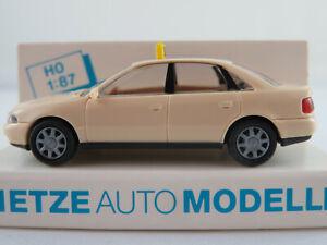 Rietze-30650-Audi-A4-Limousine-1994-034-TAXI-034-in-hellelfenbein-1-87-H0-NEU-OVP