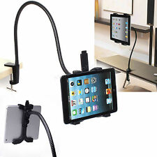 Adjustable Long Arm Desk Bed Wall Mount Stand Holder For 7-10 Inch Tablets iPad