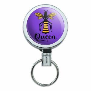 Queen-Bee-Metal-Retractable-Belt-Clip-Reel-ID-Badge-Key-Card-Tag-Holder
