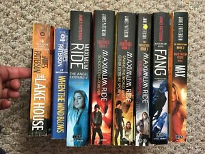 MAXIMUM-RIDE-JAMES-PATTERSON-SET-8-BOOKS-LAKE-HOUSE-WIND-BLOW-MAX-FANG-SCHOOL