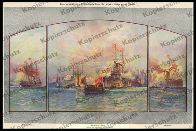 ORIG. associazione Alex Kircher k.u.k. Marine 60. ufficiali Giubileo Francesco Giuseppe I. 1908