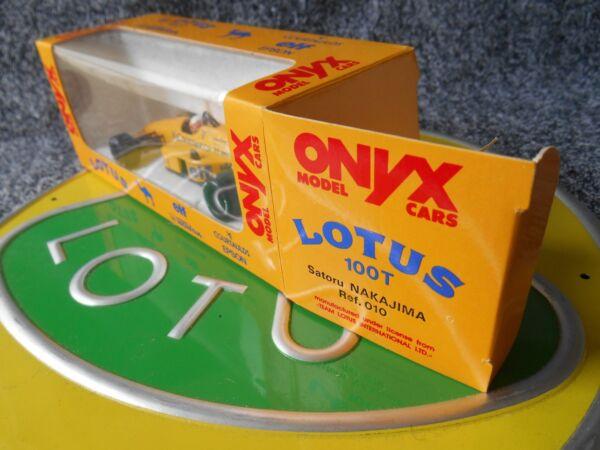 100% De Qualité Onyx 010 Lotus 100 T Courtaulds Satoru Nakajima Comme Neuf Boxed Demande DéPassant L'Offre